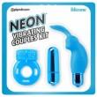 Neon Blue Vibrating Couples Kit