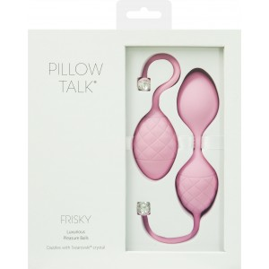 PILLOW TALK FRISKY KEGEL EXERCISER WITH SWAROVSKI CRYSTAL PINK