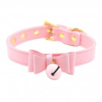 Love in Leather Pink Bow Collar
