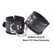 Black Diamond Bondage BD PVC WRIST RESTRAINTS BLACK