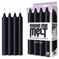 Make Me Melt Drip Candles Black 4pk