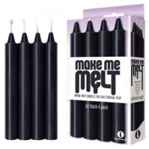 Make Me Melt Drip Candles Black 4pk