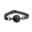 Love in Leather Breathable Ball Gag - Black