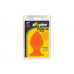 Rooster Daddy-O Small Butt Plug Orange