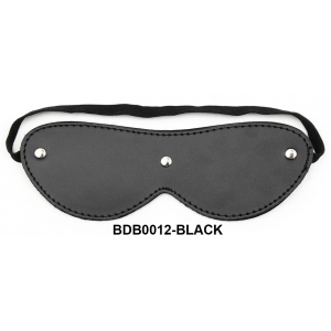 Black Diamond Bondage PVC PLUSH BLINDFOLD W/RIVETS