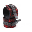 Black Diamond Bondage LACE WRIST RESTRAINTS BLACK/RED