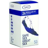 SAX Regular 24 Regular Fit Condoms 53mm