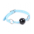 Love in leather Ball Gag, Blue