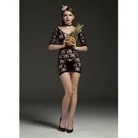 Rimes Bodystocking LIN7108 Black Dress