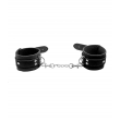 Love in Leather Unlined Hand Cuffs - Black