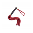 Love In Leather Suede Flogger Toggle - Red