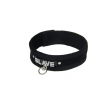 Love In Leather Velvet SLUT Collar - black