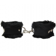 Love In Leather Fleece Cuffs Black