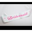 Bridesmaid Sash - Silver