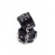 Love in Leather Plush Padded Cuffs Black