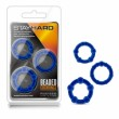 Stay hard Beaded Blue Cockrings 3pk