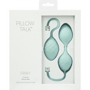 PILLOW TALK FRISKY KEGEL EXERCISER WITH SWAROVSKI CRYSTAL TEAL